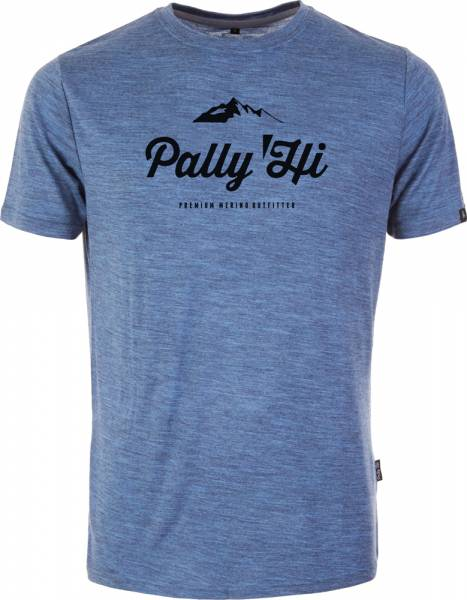 Pally´Hi Classic Peak Logo Men T-Shirt blue heaven
