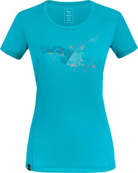 Salewa Sporty Graphic Dry S/S Tee Women ocean