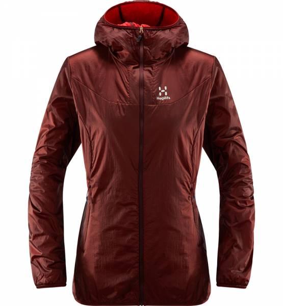 Haglöfs Aran ( Valley ) Jacket Women Isolationsjacke Maroon Red / Hibiscus