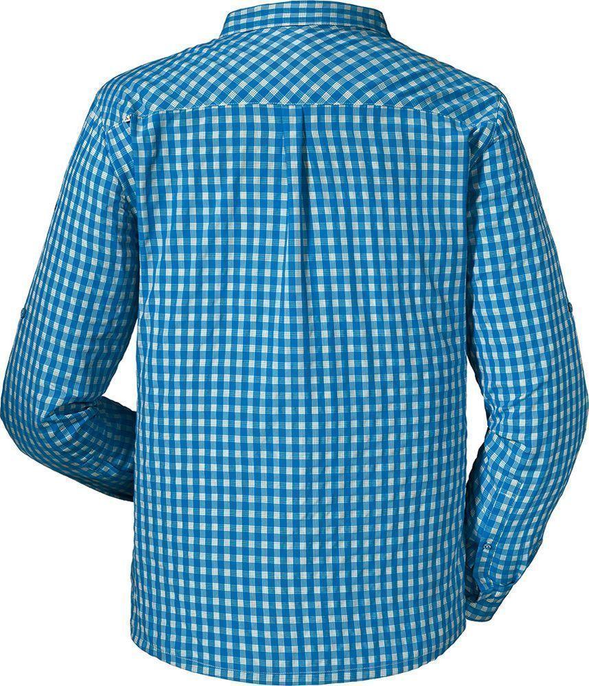 Schöffel Herren Langarmhemd Shirt JENBACH UV blau
