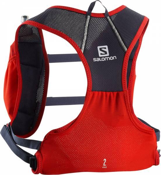 Salomon Agile 2 Set red Rucksack