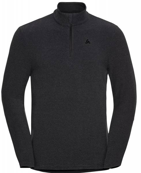 Odlo Roy 1/2 Zip Herren Midlayer shale grey-black stripes