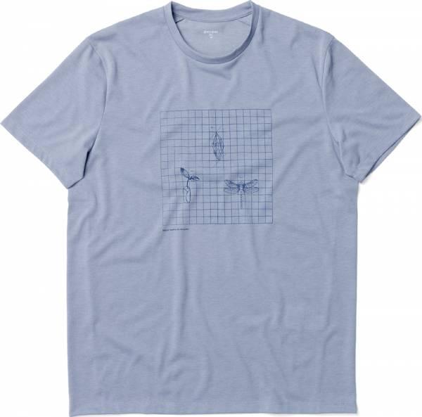 Houdini Big Up Message Tee Men T-Shirt dreams of blue