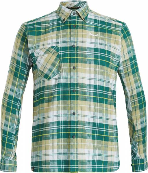 Salewa Fanes Flannel 3 PL Men L/S Shirt Hemd botan/monst/bl fog