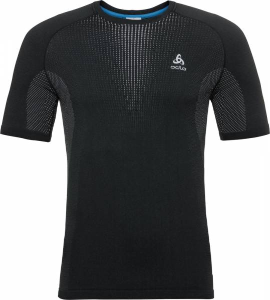 Odlo Performance Warm Men Funktionsunterwäsche T-Shirt black-odlo concrete grey