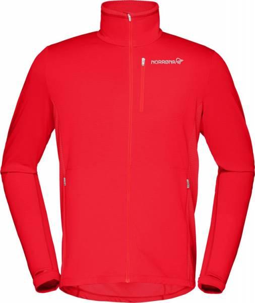 Norrona Bitihorn warm1 stretch Jacket Men Midlayer tasty red