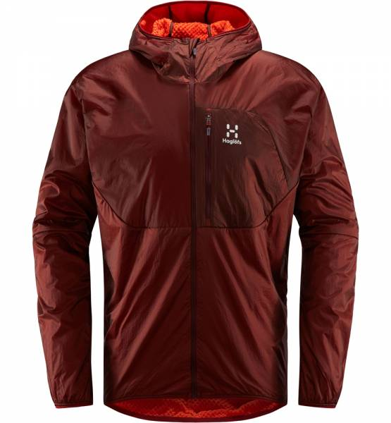 Haglöfs Proteus Jacket Men Isolationsjacke Maroon Red / Habanero