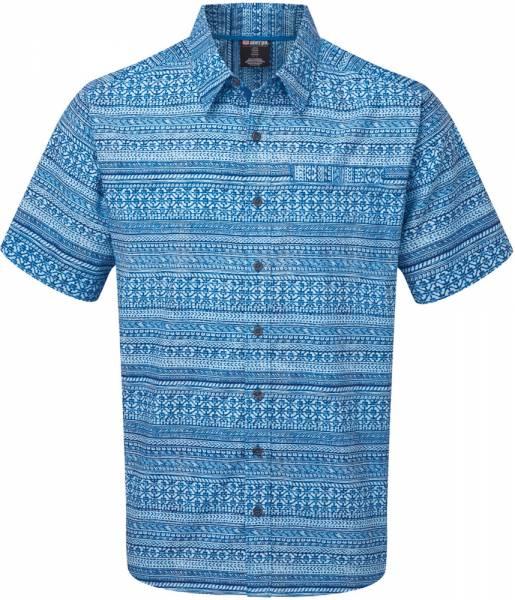 Sherpa Durbar Short Sleeve Shirt Men Kurzarmhemd langtang blue