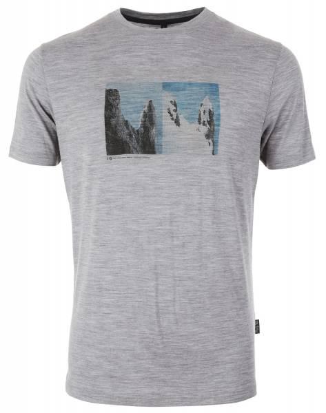 Pally´Hi T-Shirt Yin & Young Herren Merinoshirt heather grey