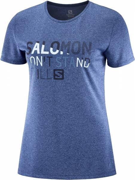 Salomon Comet Classic Tee Women Funktionsshirt print darkdenim