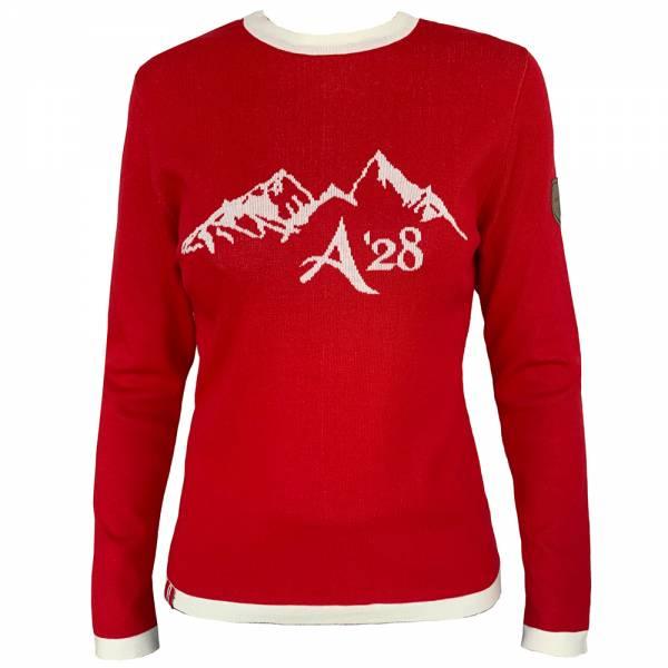 Almgwand Ampferalm Damen Pullover rot-weiss